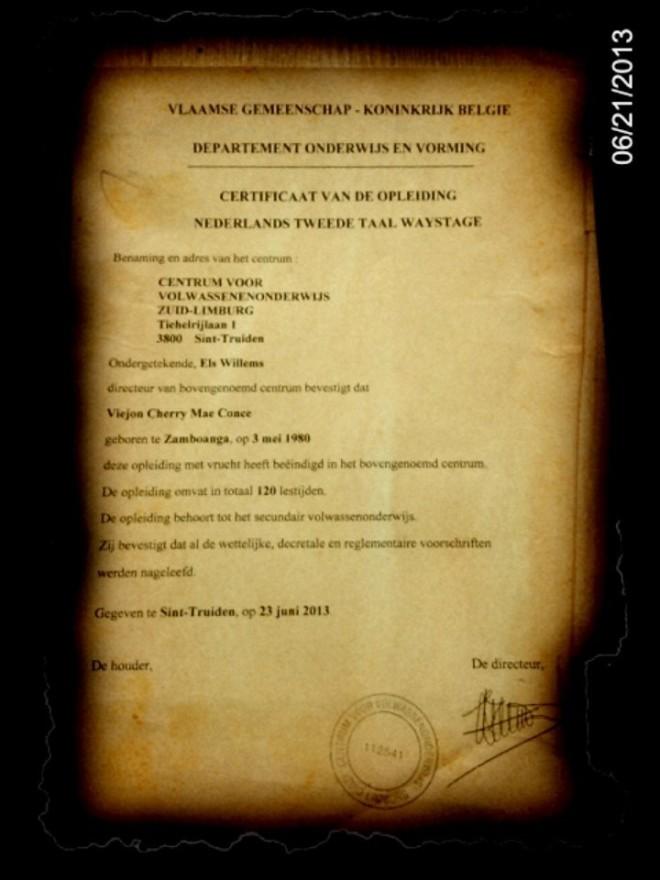 Certificaat Nederlands NT2 (A2)