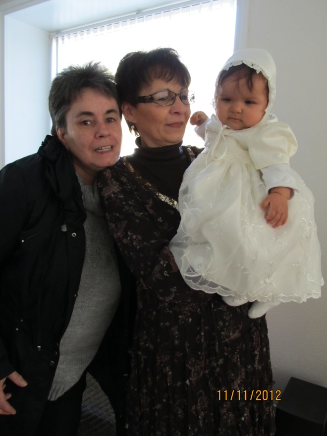 With Marjo, Z's Baptism - Nov. 2012