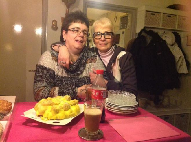 With Marjo on Mam's Birthday, February 2013